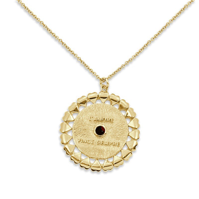 VERONA Necklace - Gold and Garnet