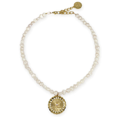 VERONA PEARL Necklace - Gold With Pearls