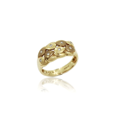 YASMEEN GOLD & DIAMOND Ring - 9K Gold