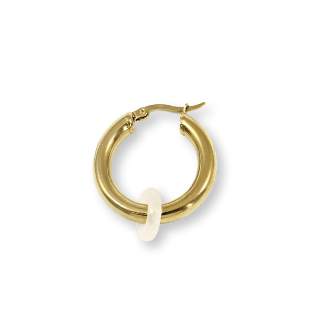 SIDEKICK LARGE Hoop Earring - Gold