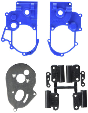 RPM Hybrid Gearbox Housing and Rear Mounts for Traxxas 2WD Electric, Blue - Hobby Shop
