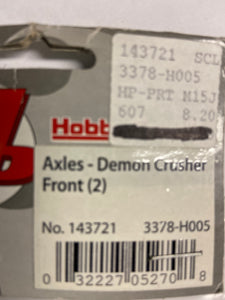Hobby People  Axles - Demon Crusher Front (2) - Hobby Shop