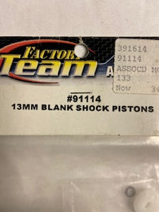 13mm  Blank  Shock Pistons - Hobby Shop
