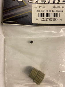 XTM  Pinion gear  14T.  32P  Alum. - Hobby Shop