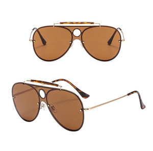 Aviator Sunglasses With Gradient Lenses - Beyazura.com