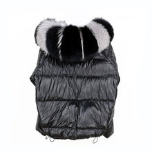 Load image into Gallery viewer, Reversible Bomber Jacket With Natural Fox Fur Trims - BEYAZURA.COM
