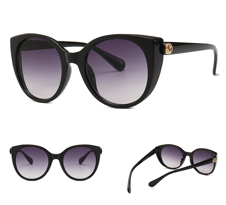 Cat Eye Sunglasses With Clear Frame - BEYAZURA.COM