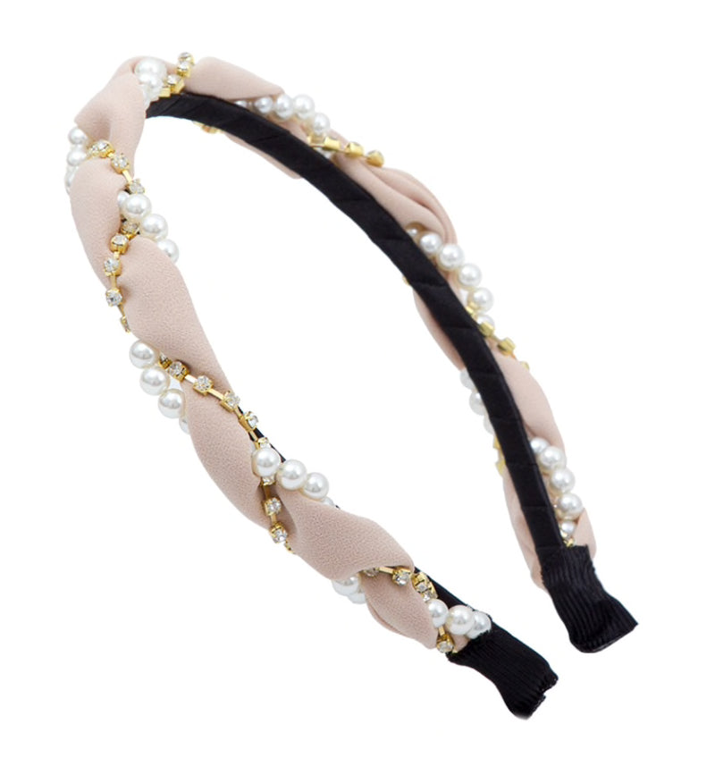 Pearl And Crystal Headbands - BEYAZURA.COM