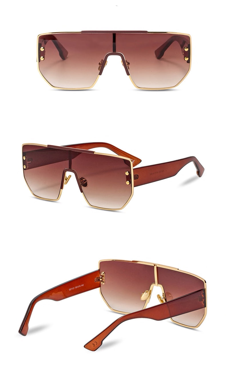 Square Flat Top Shades - BEYAZURA.COM