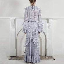 Load image into Gallery viewer, Tie Dye Ruffle Flared Sleeve Maxi Dress - Beyazura.com