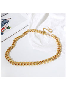 Single Gold Chain Belt - Beyazura.com
