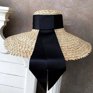 Summer Straw Hat With Wide Sun Bream - Beyazura.com