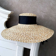 Load image into Gallery viewer, Summer Straw Hat With Wide Sun Bream - BEYAZURA.COM