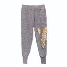 Load image into Gallery viewer, Two Piece Loungewear With Bird Gold Beadings - BEYAZURA.COM