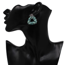 Load image into Gallery viewer, Triangle Crystal Mini Drop Earrings - BEYAZURA.COM