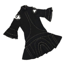 Load image into Gallery viewer, Cut Out Sleeve Flared Beaded Dress - BEYAZURA.COM