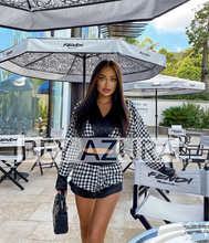Load image into Gallery viewer, Houndstooth Pattern Elastic Waist Two Piece Set - BEYAZURA.COM
