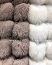 Load image into Gallery viewer, Cropped Striped Fox Fur Coat - Beyazura.com