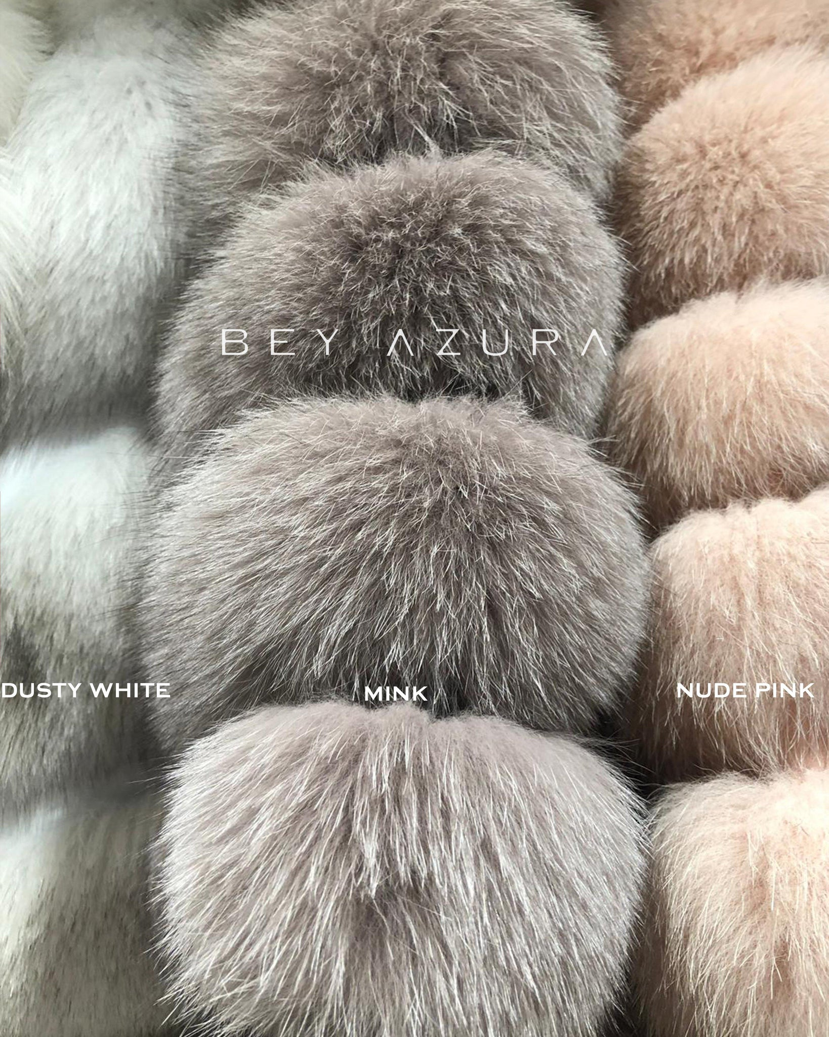 LONG FOX FUR VEST WITH HOODIE