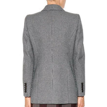 Load image into Gallery viewer, Gray Tailored Plaid Blazer Dress - Beyazura.com