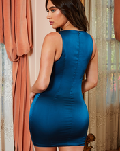 Load image into Gallery viewer, OhPolly Final Cut Underwired Corset Style Satin Mini Dress - BEYAZURA.COM