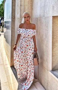 Floral Maxi Dress - BEYAZURA.COM