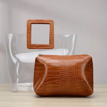 Load image into Gallery viewer, Pu Leather Pouch Clear Handbag - BEYAZURA.COM