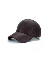 Load image into Gallery viewer, PU Leather Adjustable SnapBack Closure Cap - Beyazura.com
