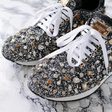 Load image into Gallery viewer, Luxury Glam Crystallized Sparkly Sneakers - BEYAZURA.COM