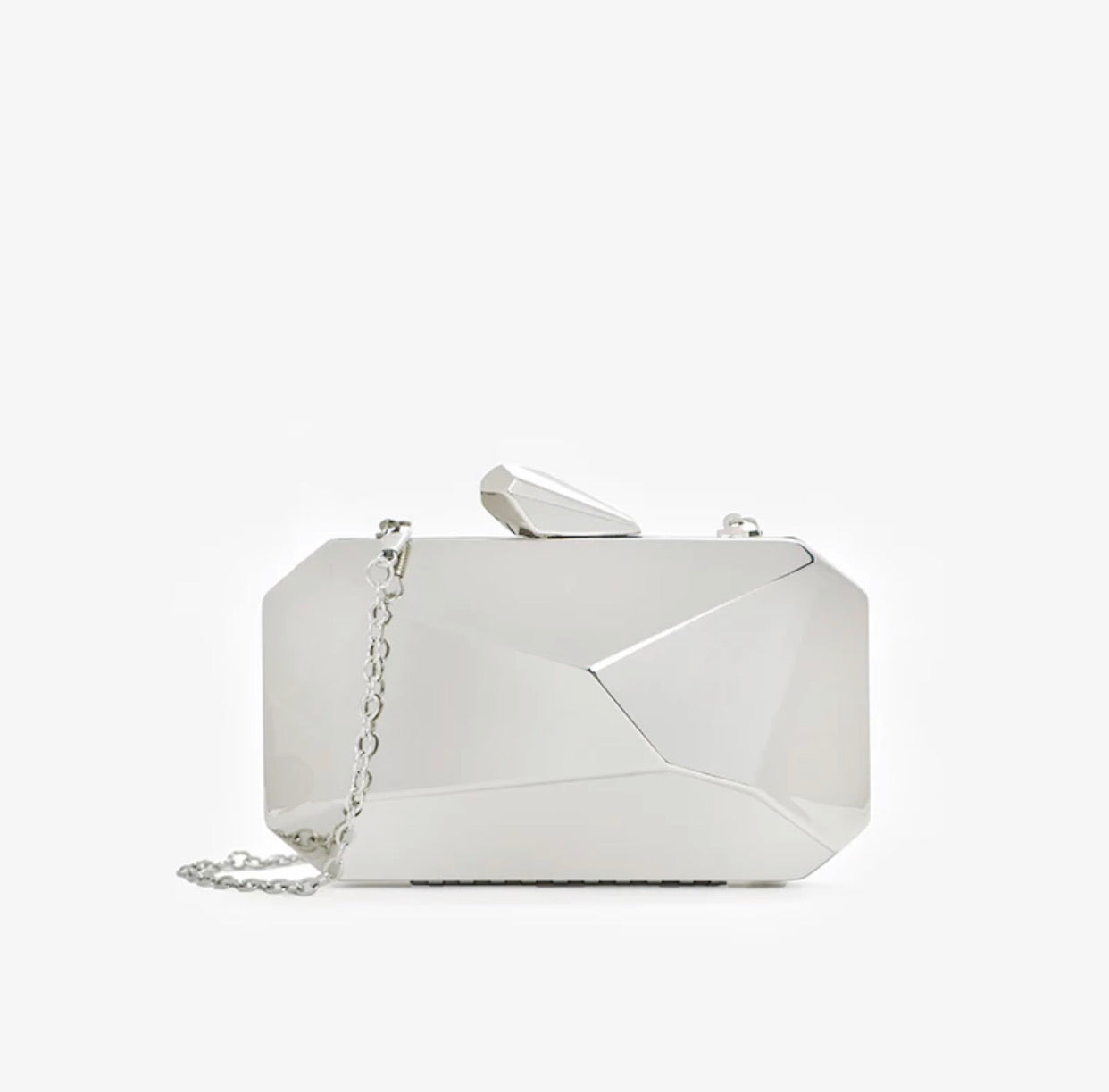 Matte Geometrical Evening Clutch - BEYAZURA.COM
