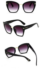 Load image into Gallery viewer, Cateye Style Black Gradient Lens Sunglasses - BEYAZURA.COM