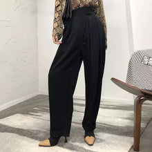 Load image into Gallery viewer, High Waist Loose Pleated Wide Leg Pants - BEYAZURA.COM