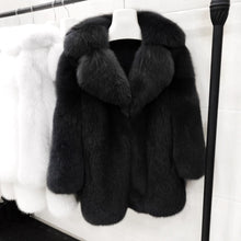 Load image into Gallery viewer, Lux Thick Fox Fur Coat - BEYAZURA.COM