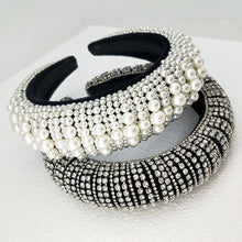 Load image into Gallery viewer, Super Lux Crystal Pearl And Bead Headbands - BEYAZURA.COM