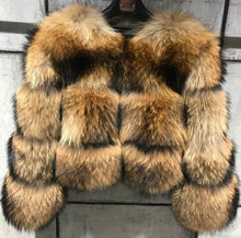 Load image into Gallery viewer, Cropped Dusty Brown Raccoon Fur Coat - Beyazura.com