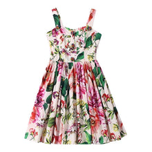 Load image into Gallery viewer, Multi Color Flower Print Summer Dress - BEYAZURA.COM