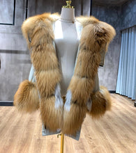 Load image into Gallery viewer, Luxurious Oversized Fox Fur Hooded Duck Down Parka - BEYAZURA.COM