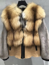 Load image into Gallery viewer, Genuine Fox Fur And Mink Thick Sheepskin Coat - Beyazura.com