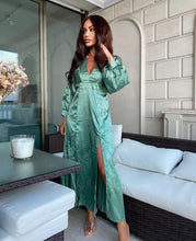 Load image into Gallery viewer, AxParis Green Dress - BEYAZURA.COM