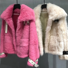 Load image into Gallery viewer, Oversized Sheep Shearling Fur Sheepskin Leather Coat - BEYAZURA.COM