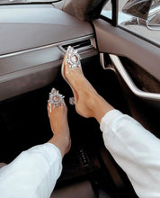 Load image into Gallery viewer, Peep Toe Crystal Clear Heels - BEYAZURA.COM