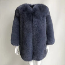 Load image into Gallery viewer, Ultra Plush Mid Length Fox Fur Coat - Beyazura.com