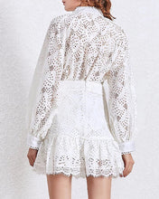 Load image into Gallery viewer, Lace Shirt and Ruffle Skirt Two Piece Set - BEYAZURA.COM