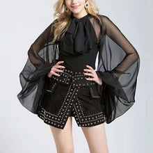 Load image into Gallery viewer, Chiffon Transparent Exaggerated Sleeve Shirt - BEYAZURA.COM