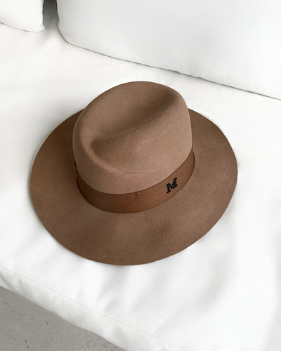 Brown Luxury Australian Wool Fedora Hat - BEYAZURA.COM