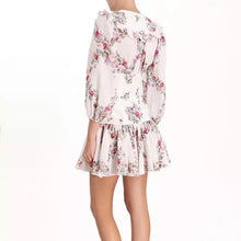 Load image into Gallery viewer, Floral Ruffle Skirt Corset Waist Dress - BEYAZURA.COM