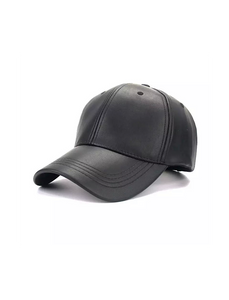 PU Leather Adjustable SnapBack Closure Cap - Beyazura.com