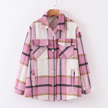 Load image into Gallery viewer, Thick Woven Plaid Loose Shirt - BEYAZURA.COM