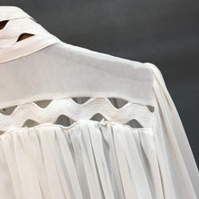 Load image into Gallery viewer, Cut Out Ruched High Neck Shirt - Beyazura.com