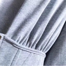 Load image into Gallery viewer, Corset Hoodie Sweatshirt in Gray - BEYAZURA.COM